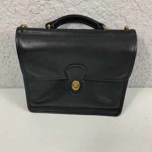 Vintage Coach Willis Messenger Bag Satchel Black